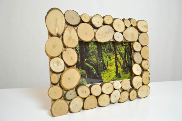 Kerzenständer Aus Holz Selbst Gemacht ~ Bilderrahmen selber machen  ICH DESIGNER