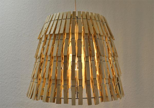 lampe aus w scheklammern selber machen ich designer. Black Bedroom Furniture Sets. Home Design Ideas